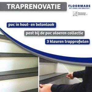 Traprenovatie met PVC delen