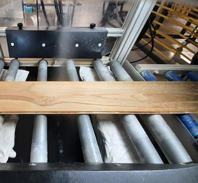 vergrijzen van houten planken